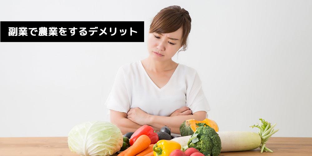 農業のデメリット